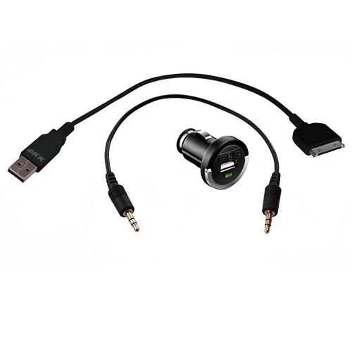 "KFZ-Set ""DockConnector"": USB-Ladeadapter + 30pin-DockConnector-Kabel + Audio-Kabel"