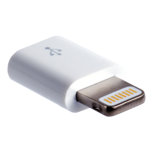 Lightning-Adapter MD820ZM/A auf Micro-B-Buchse. Original APPLE-Bulkware.
